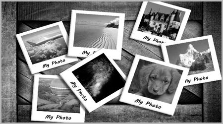 как сделать фото как в полароид